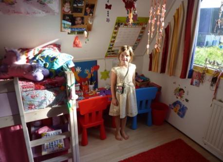Vita in her room.