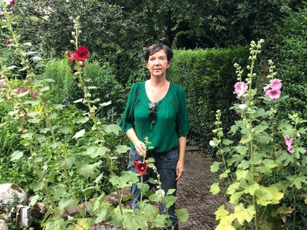 tineke in the garden