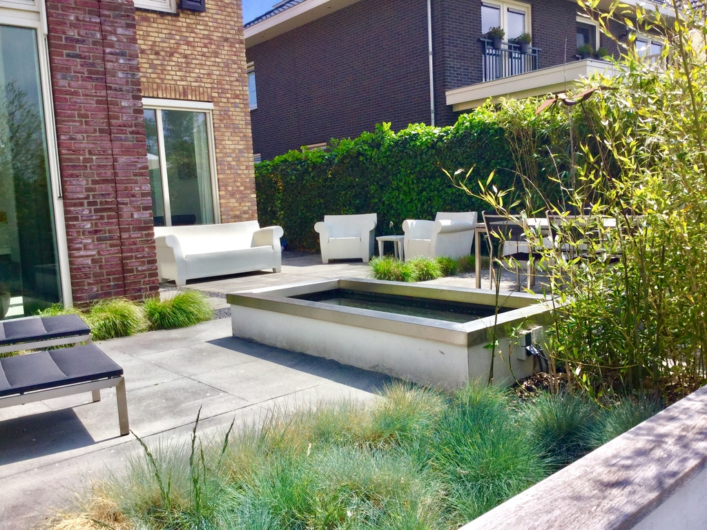 Backyard garden with sitting areas