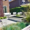 Backyard garden with sitting areas
