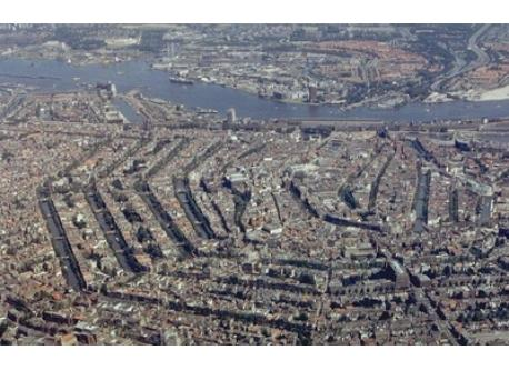 View of Amsterdam from above