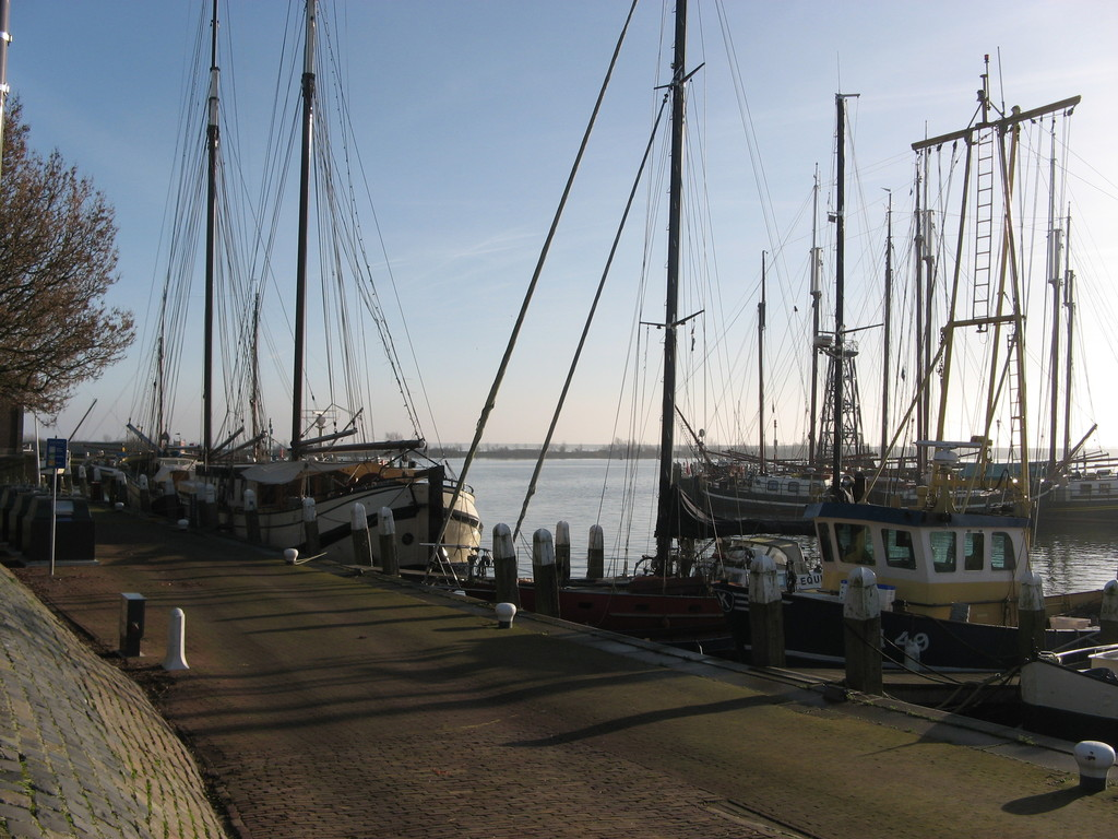 One of the several harbours. Enkhuizen is a popular place for all kinds of water-recreation lovers.