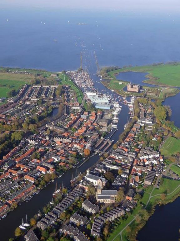 Muiden from above