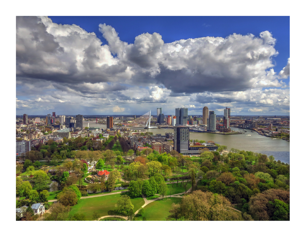 Rotterdam. View from the Euromast.