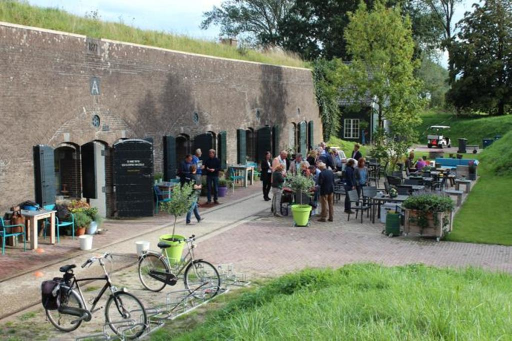 Near our House you can walk or cycle to this old fort where you can drink tea or coffee