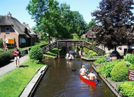 Dutch Venice called Giethoorn at 32 km (30 min. by car)