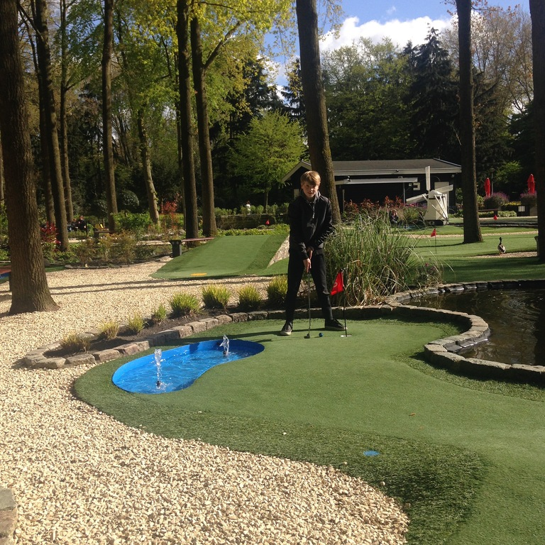 At the end of our street a nice mini golf course in the Amstelpark