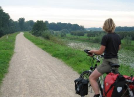 Cycling along the IJssel near Gouda