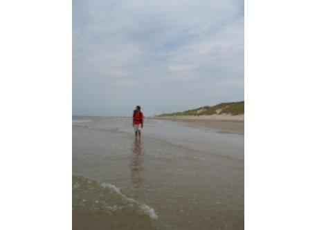North Sea beach, at 30 km.