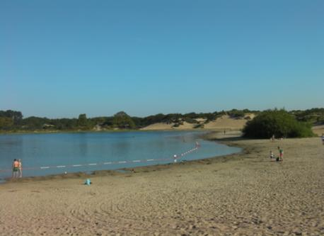 one of the dune lakes, safe for children
