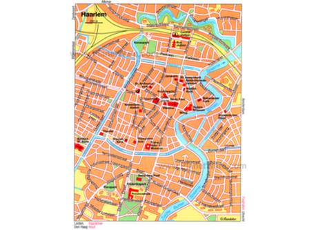 map city centre Haarlem