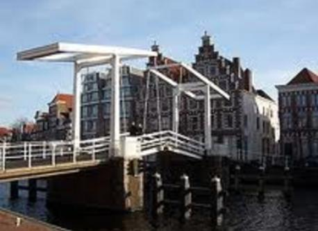 bridge over river Spaarne  in Haarlem