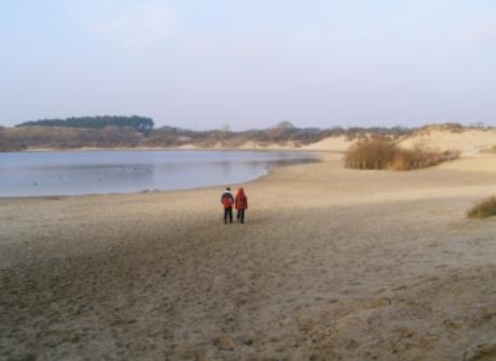 The sandy part of the dunes