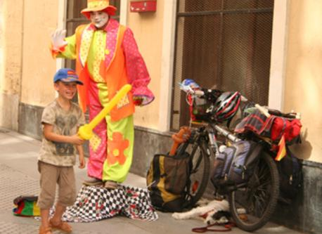 Clown in Cádiz, Spain.