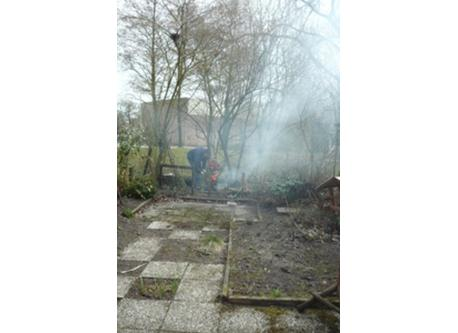 Easter fire in the back garden