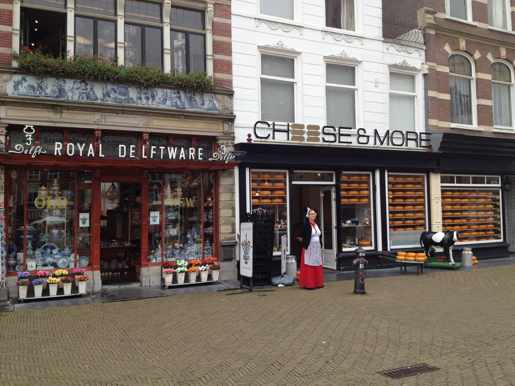 Shops in central Delft
