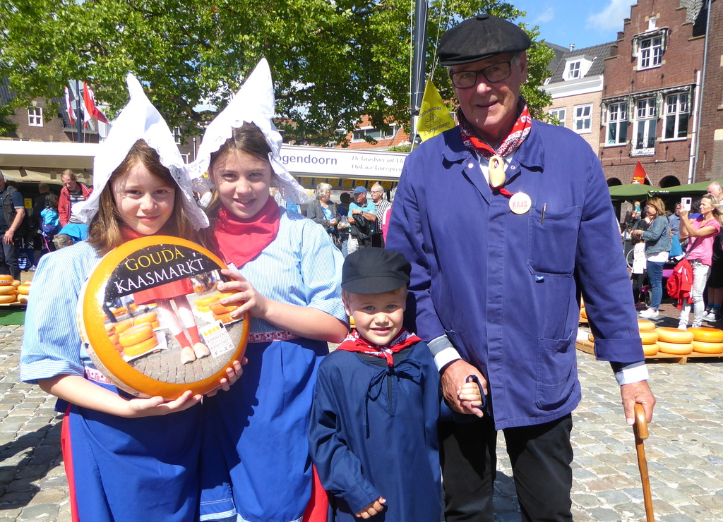 with grandchildren at the cheesemarket