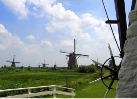 Windmills of Kinderdike, on the list of Unesco