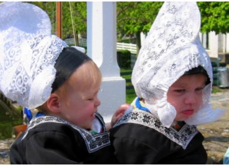 Our grandchildren in the Zuiderzee museum  dressed in the national costume
