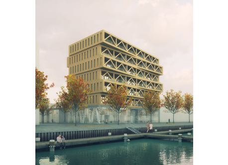 Patch22. The highest wooden building in Amsterdam.