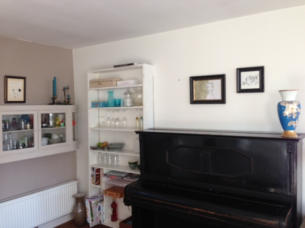 piano in the kitchen