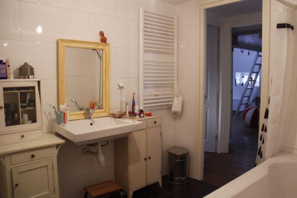 bathroom (shower in bathtub)