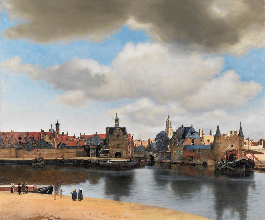Vermeer painted his 'View on Delft' in 1660