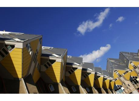 """Cube-houses in Rotterdam; city of architecture"