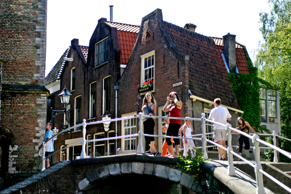 The historic citycentre of Delft