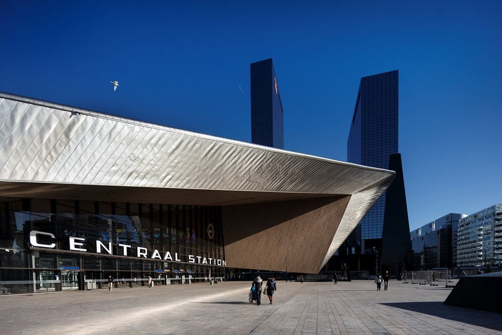 Rotterdam's central station is a real eyecatcher