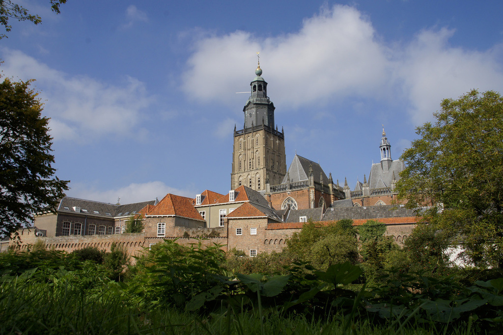 Zutphen at 20km or .30 min by train.