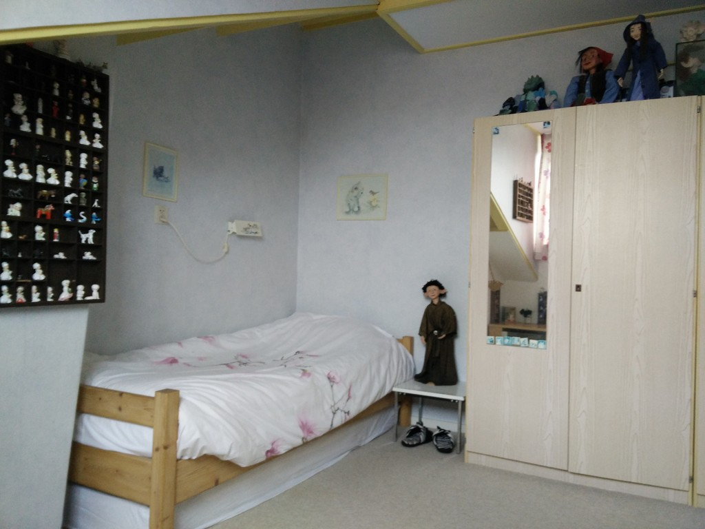 Anke's former bedroom with little girls toys