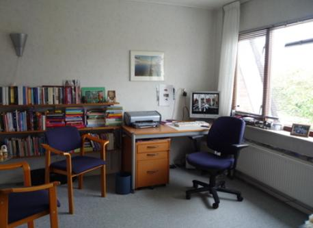 the study with wifi, pc and printer