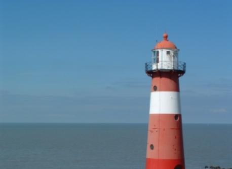 the light house of Westkapelle at the Northsea