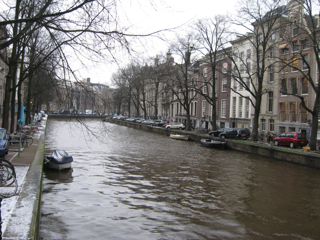 Canals at the back and at the front