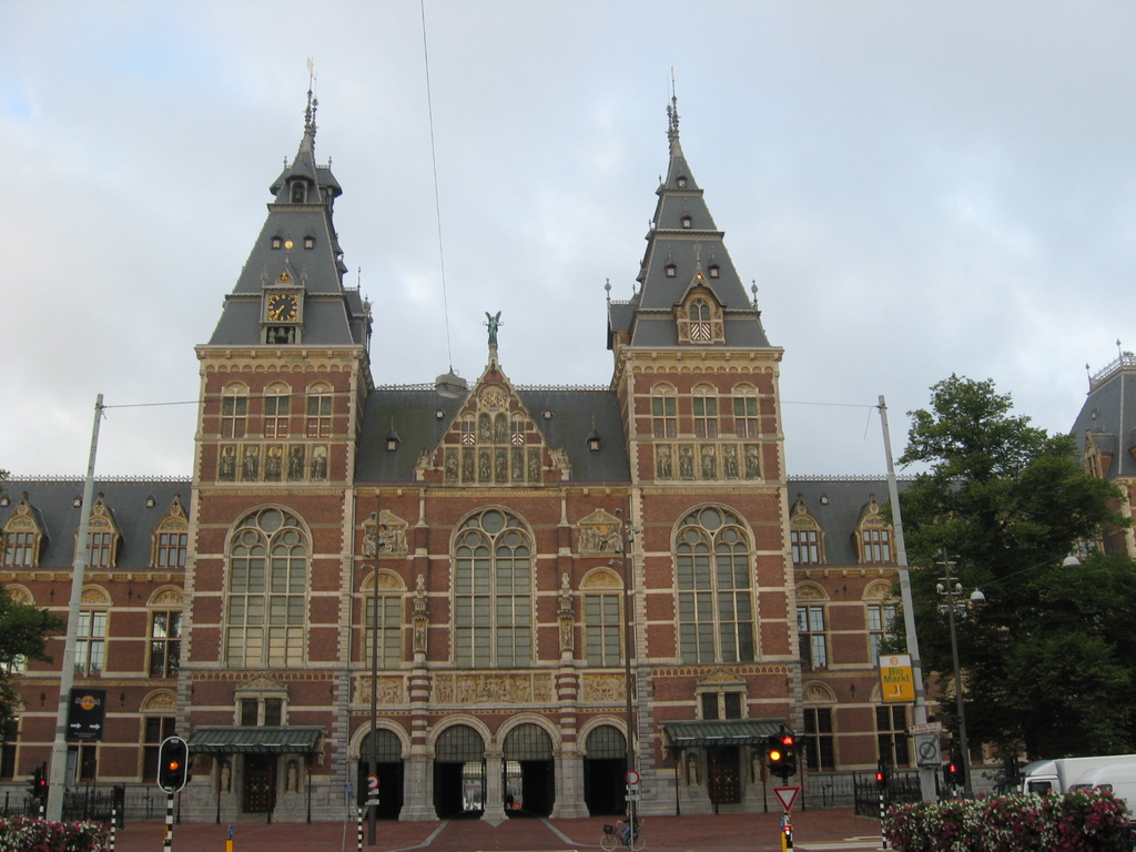 opposite the house: the Rijksmuseum