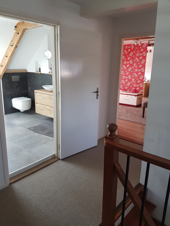 Bathroom and Josephina's bedroom (at the back)