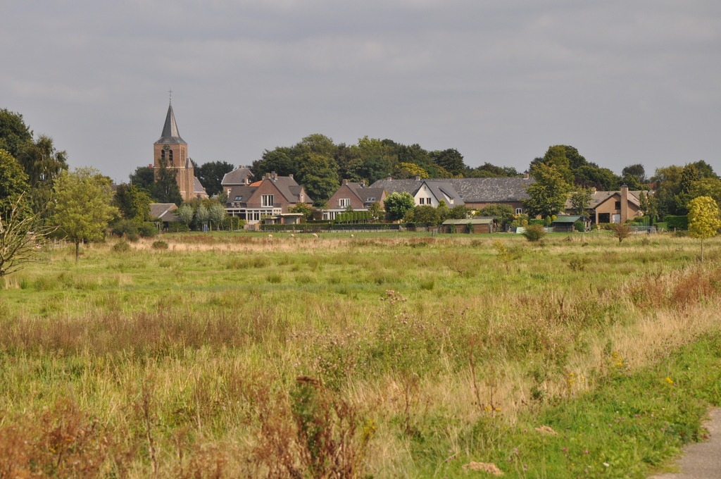 Village as seen from surrounding nature reserve