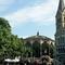 Roermond. Munsterplein met Munsterkerk, muziektent en terrassen