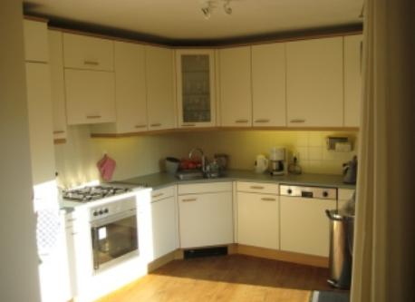 Kitchen, breakfast in the sun. Also opening to sunny terrace. Appliances in acce