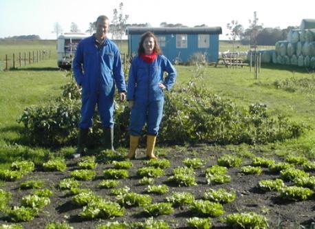 Martin & Linda in the vegetablegarden