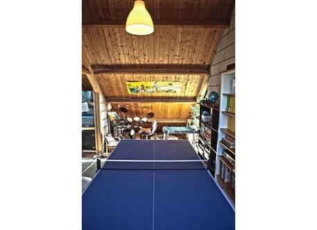 table tennis and children's paradise in the attic
