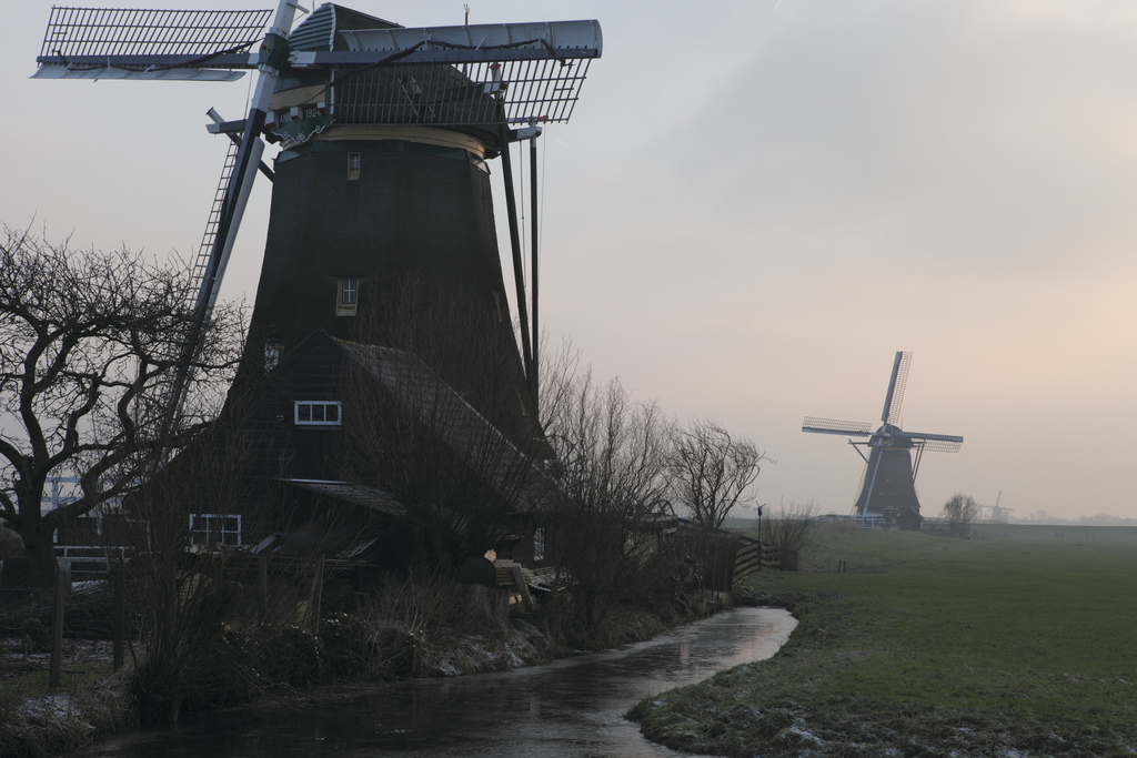 windmills outside the village