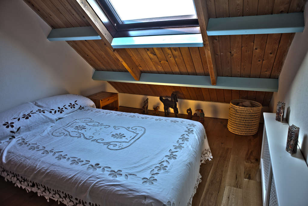 guest room in the attic