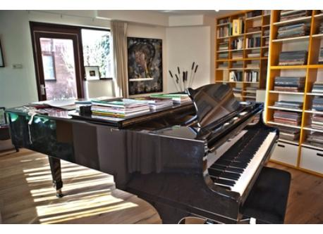 studio with grand piano