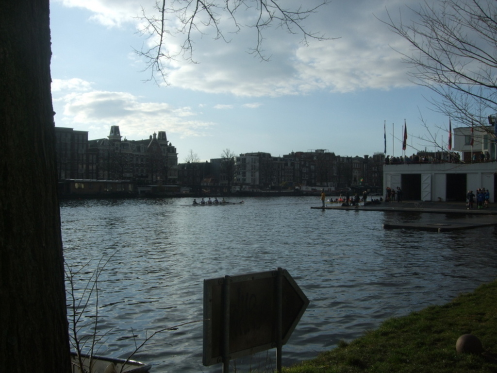 the river Amstel in March