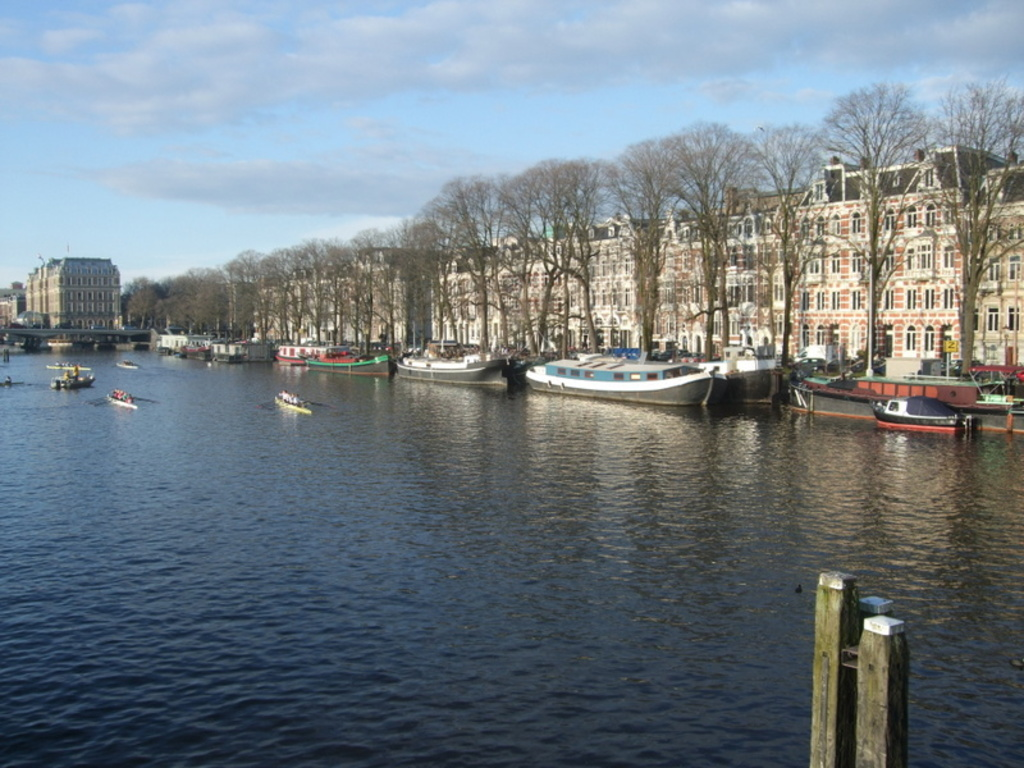 19th century houses along the Amstel