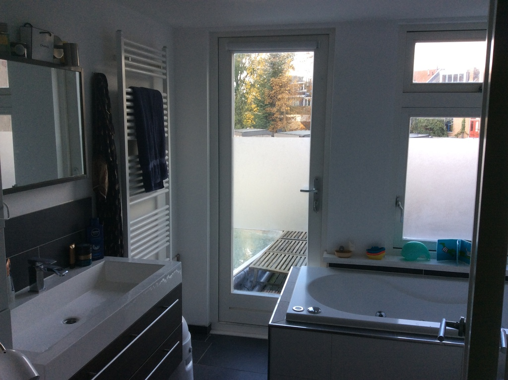 Bathroom with bath and separate shower - first floor