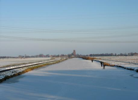 Winter landscape north of Amsterdam