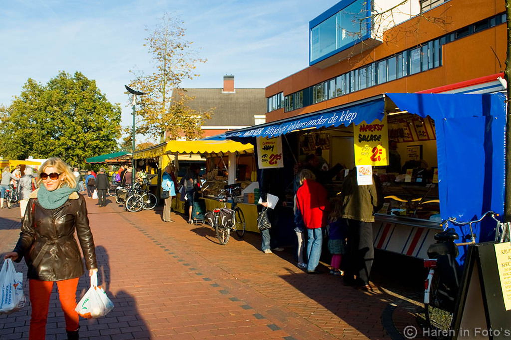 The weekly market in Haren